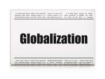 Financiënconcept: de Globalisering van de krantenkrantekop vector illustratie