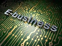 Financiënconcept: E-business op de achtergrond van de kringsraad Stock Afbeeldingen