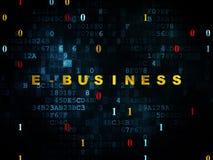 Financiënconcept: E-business op Digitale achtergrond Stock Afbeelding