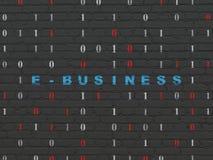 Financiënconcept: E-business op muurachtergrond Stock Foto's
