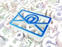 Financiënconcept: E-mail op alfabetachtergrond Royalty-vrije Stock Foto's