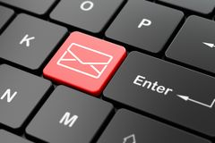 Financiënconcept: E-mail op de achtergrond van het computertoetsenbord Royalty-vrije Stock Foto