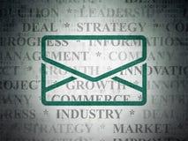Financiënconcept: E-mail op Digitale Document achtergrond Royalty-vrije Stock Fotografie