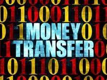 Financiënconcept: Geldoverdracht op digitaal Stock Afbeelding