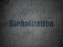 Financiënconcept: Globalisering op de achtergrond van de grungemuur royalty-vrije illustratie