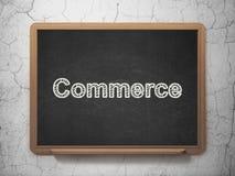Financiënconcept: Handel op bordachtergrond Stock Fotografie