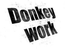 Financiënconcept: Het ezelswerk aangaande Digitale achtergrond Royalty-vrije Stock Fotografie