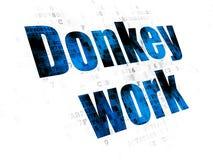 Financiënconcept: Het ezelswerk aangaande Digitale achtergrond Royalty-vrije Stock Foto
