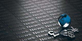 Financiënconcept, het Nieuws van de Muntenmarkt Stock Foto