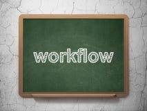 Financiënconcept: Werkschema op bordachtergrond Stock Fotografie