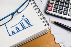Financiëngrafiek Stock Foto