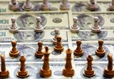 Financiënschaak Royalty-vrije Stock Foto's