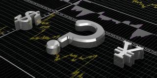 Financiënsymbolen Stock Afbeeldingen