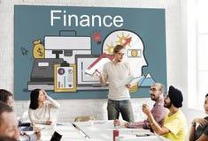Financiënwinst de Activaconcept van de Financieringsinvestering stock foto