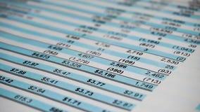 Financi?le bedrijfs planning, Saldobeleggingsportefeuille Bedrijfs samenstelling stock video