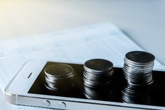 Financi?le en technologietransacties royalty-vrije stock foto