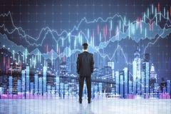Financi?n en onderzoekconcept royalty-vrije stock afbeeldingen