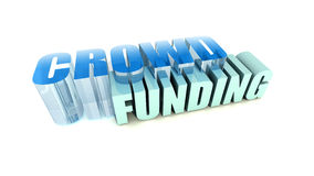 Financiación de la muchedumbre Imágenes de archivo libres de regalías