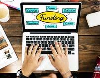 Financiación Grant Donation Diagram Concept fotos de archivo libres de regalías