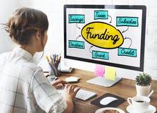 Financiación Grant Donation Diagram Concept fotos de archivo