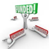 Financiado contra o investimento de capital de levantamento Unfunded melhor comece acima Entr ilustração royalty free