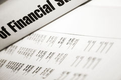 Financial. Ratios written on a white paper Stock Photo