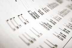Financial. Ratios written on a white paper Royalty Free Stock Photo