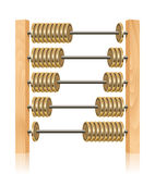 Financial abacus. On white background Royalty Free Stock Image