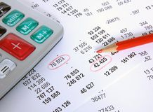 Financial account Royalty Free Stock Image
