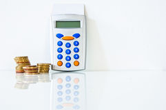 Financial account. Photo of money and objects for our financial account Stock Images