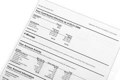 Financial account statement Royalty Free Stock Photos