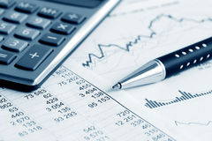 Financial accounting stock market graphs charts