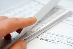 Financial accounting stock market graphs charts Royalty Free Stock Images