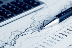Financial accounting stock market graphs charts Stock Photos