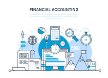 Financial accounting, analysis, market research, deposits, contributions, savings, statistics, management. Stock Photo