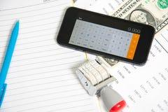 Financial accounting  analysis Royalty Free Stock Photo