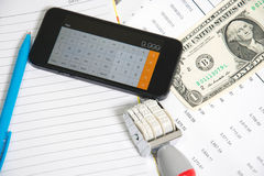 Financial accounting  analysis Stock Images