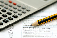 Financial accounting concept Stock Images
