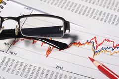 Financial or accounting concept Stock Photography