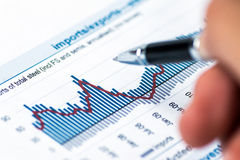 Financial accounting concept Stock Photography