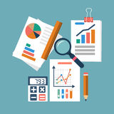 Financial accounting concept. organization process, analytics Stock Images