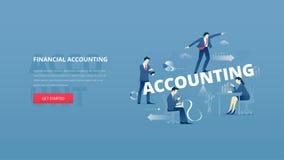 Financial accounting hero banner Royalty Free Stock Photos