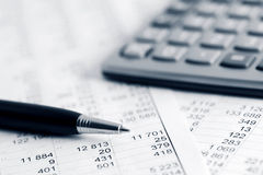 Financial accounting Stock Image