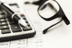 Financial accounting Stock Photography