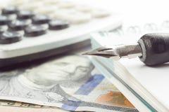 Financial accounting stock market analysis closeup Royalty Free Stock Image