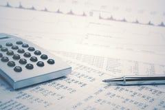 Financial accounting stock market graphs analysis. Financial accounting stock market graphs and charts analysis royalty free stock photo