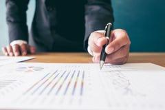 Financial accounting stock market graphs analysis Stock Photos
