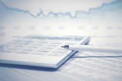 Financial accounting stock market graphs analysis. Financial accounting stock market graphs and charts analysis stock images