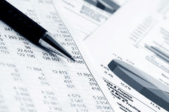 Financial accounting stock market graphs charts Royalty Free Stock Photo