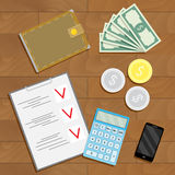 Financial accounting and verification Stock Photos
